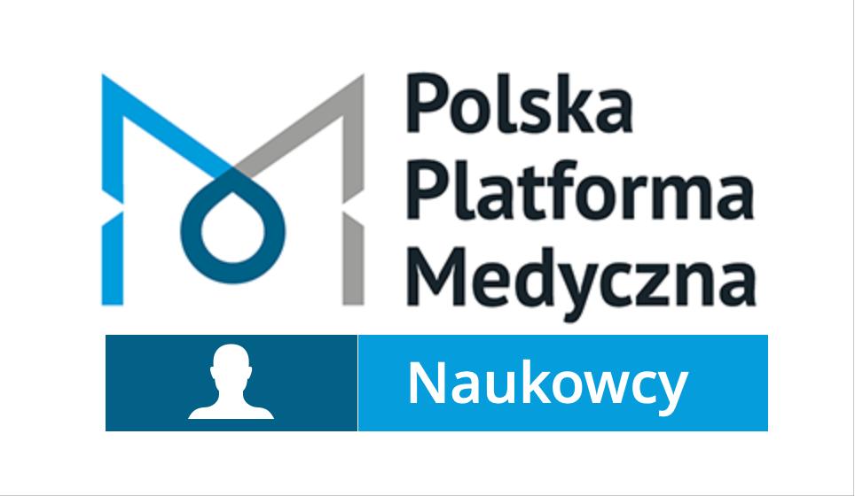 Logo Polska Platforma Medyczna z podpisem Naukowcy