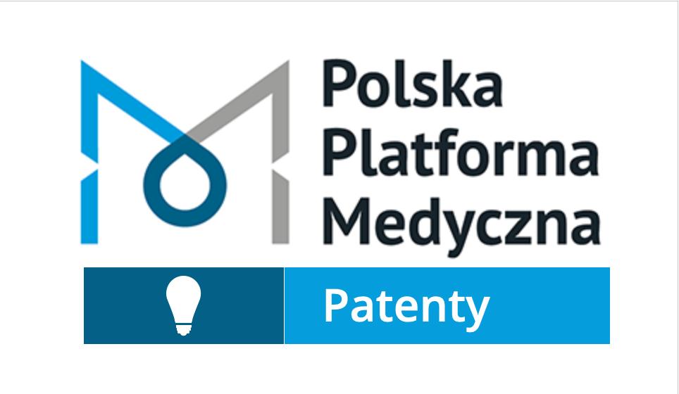 Logo Polska Platforma Medyczna z podpisem Patenty
