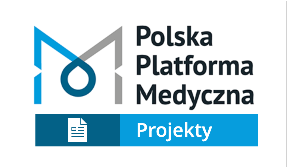Logo Polska Platforma Medyczna z podpisem Projekty